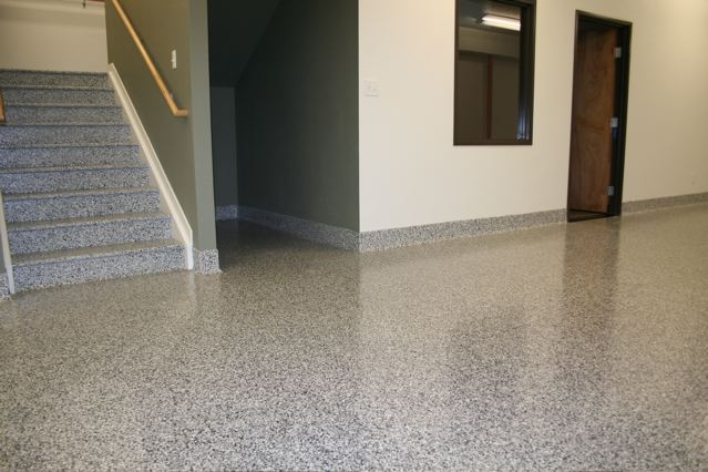 Epoxy repair epoxy floor coatings garage floor for Industrial flooring for homes
