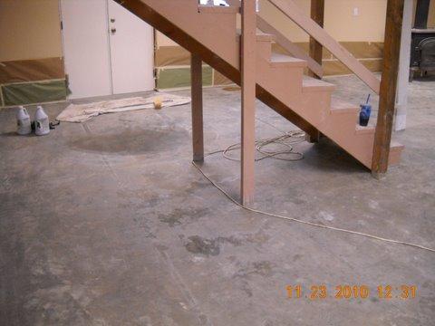 Decorative concrete basement floor dayton oregon Concrete basement